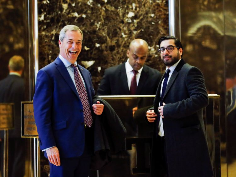 Nigel Farage arrives at Trump Towers in New York