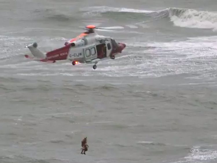 The rescue operation in Kent. Pic: @ReeldealHD