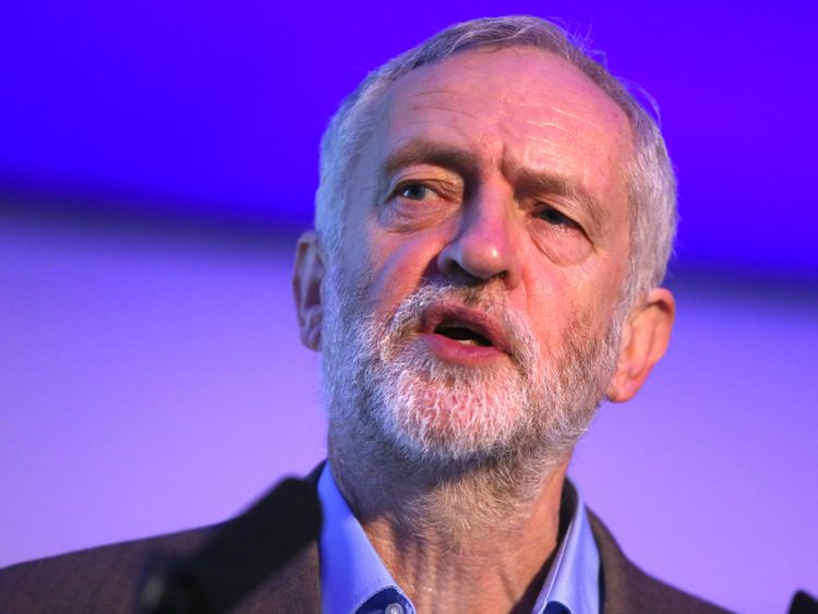 Britain's opposition Labour Party leader Jeremy Corbyn delivers a speech at a Centre for Labour and Social Studies (CLASS) event in London, Britain Novembe