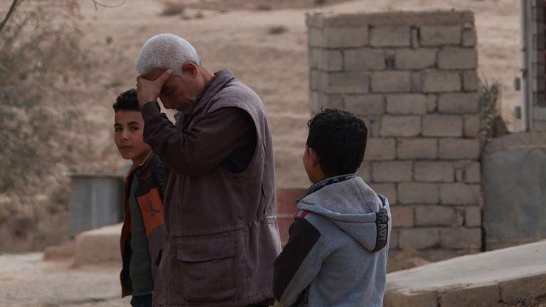 Asaad al Hindi with his 13-year-old nephew Muqtadar (R) in Hammam al Alil
