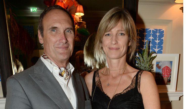 AA Gill and girlfriend Nicola Formby