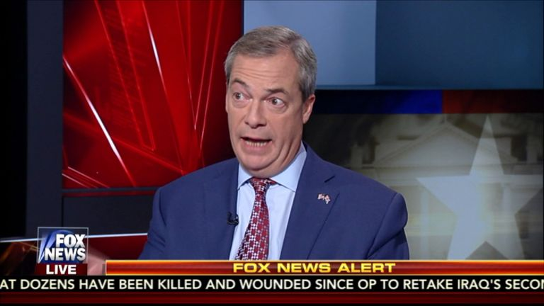 Mr Farage says the US and UK should look to the example of Reagan and Thatcher