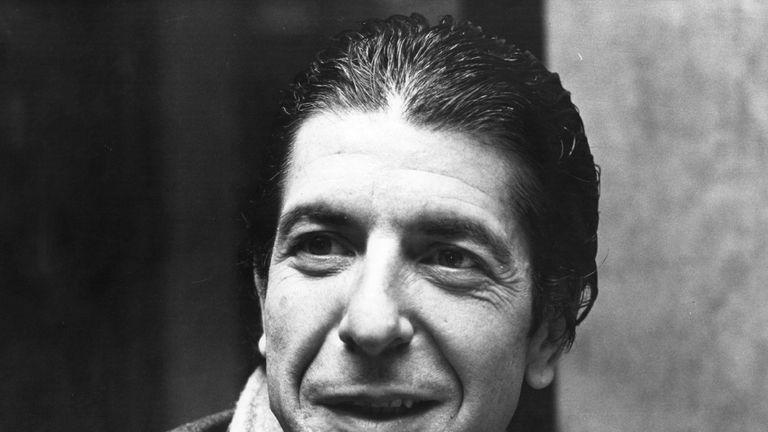 Leonard Cohen pictured in a London hotel room in 1979