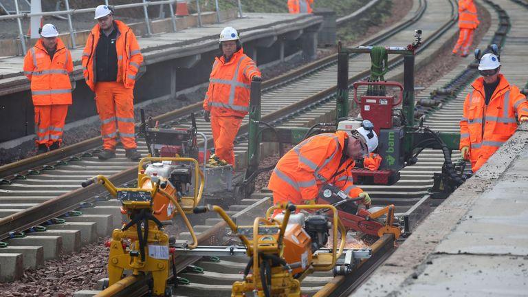 Rail work in the UK