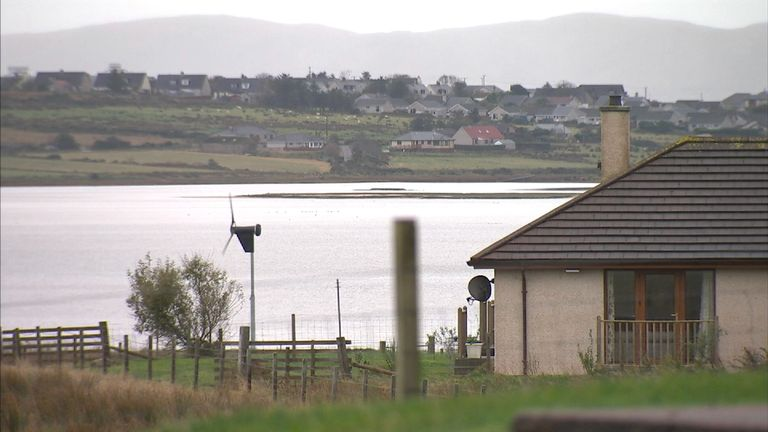 The village of Tong on the Isle of Lewis where Donald Trump's mother Mary Anne grew up