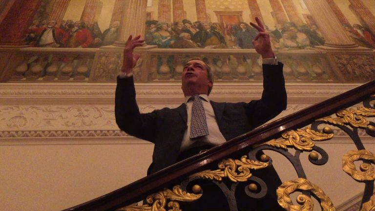 Nigel Farage speaks at The Ritz about Brexit and Trump