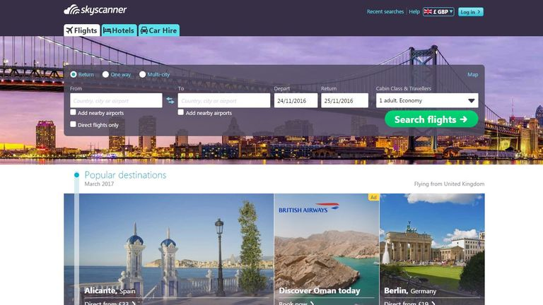 Skyscanner was founded in 2003 and is based in Edinburgh
