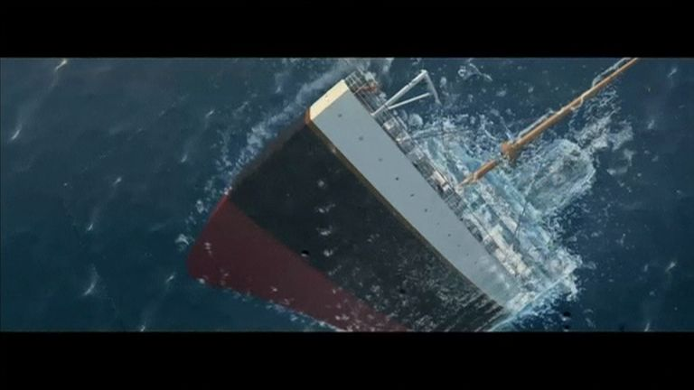 A promotional video shows the Titanic rising to the surface. Pic:  Romandisea resort