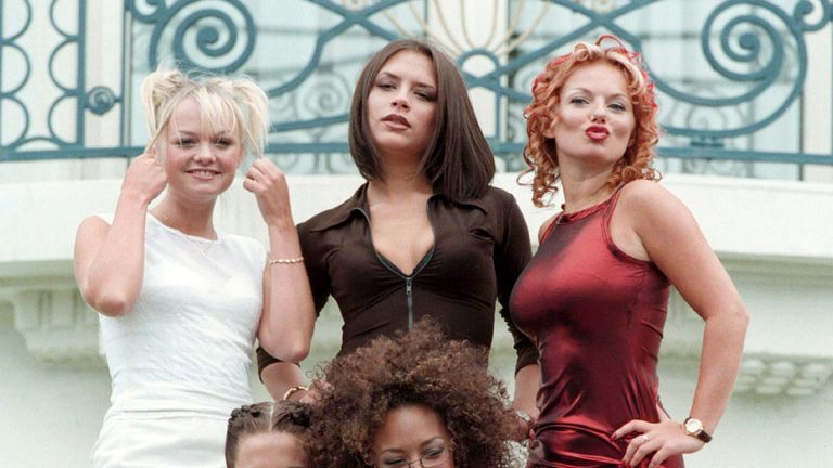 The Spice Girls promoting their 1997 film Spice World in Cannes