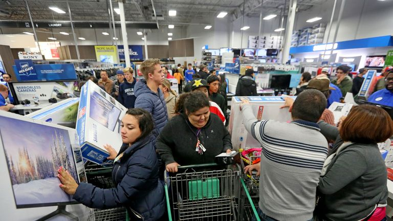 The Black Friday craze started in the US, where chaos in stores is seen every year