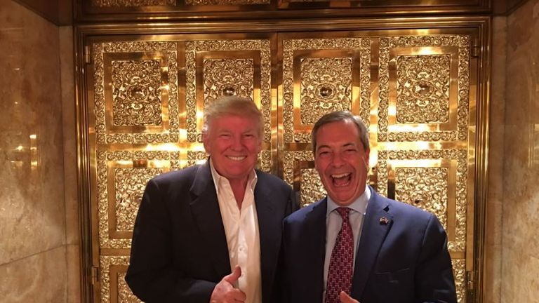 Donald Trump meets Nigel Farage in New York. Pic @nigel_farage
