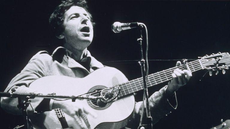 Leonard Cohen performing in 1974