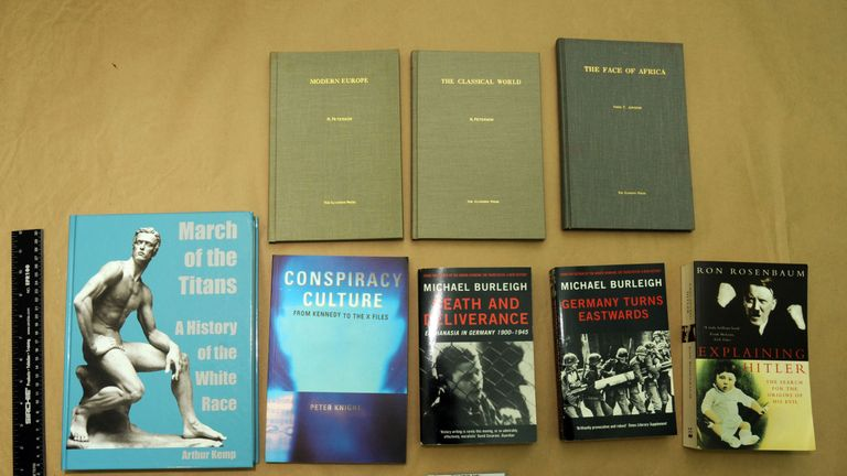 Some books found in Thomas Mair's home