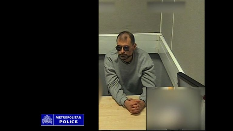 Brizzi was recorded while being questioned by police