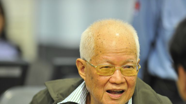Khieu Samphan who was head of state under Pol Pot's regime in the 1970s