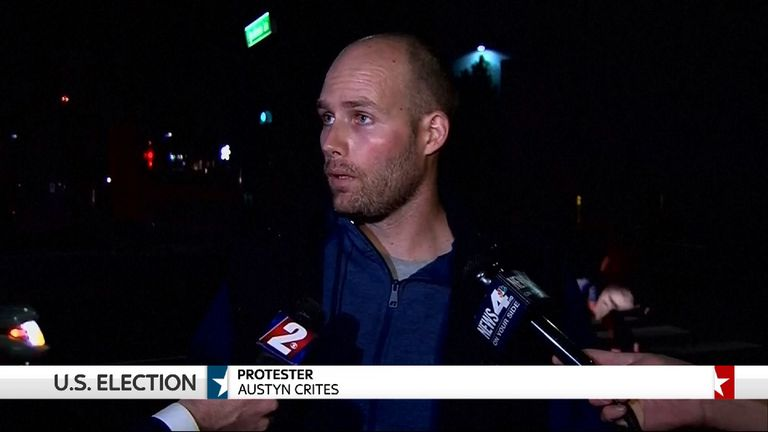 Austyn Crites said he was a Republican, but did not support Donald Trump