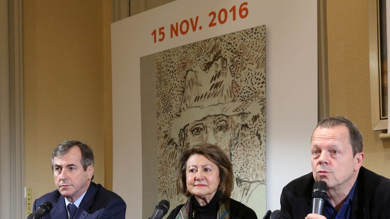 Auctioneers held a news conference about the lost sketchbook and the launching of its published version