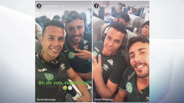 Alan Ruschel (right) survived, goalkeeper Danilo (left) was killed