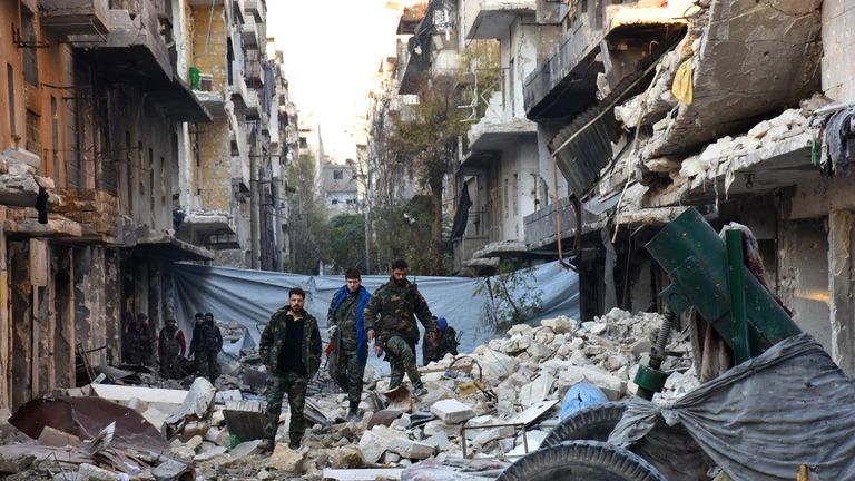 Eastern Aleppo has been devastated by the fighting