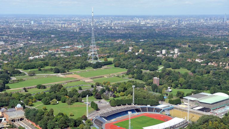 Crystal Palace transmitting tower, currently known as Arqiva Crystal Palace