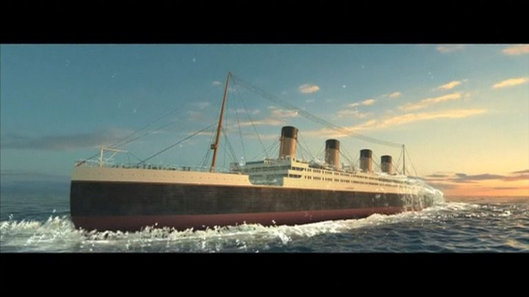 The Titanic as envisaged in a promotional video. Pic:  Romandisea resort