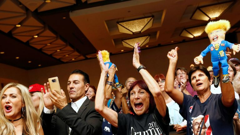 Trump supporters celebrate in Phoenix, Arizona