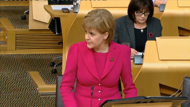 Nicola Sturgeon says she will be 'looking at the judgment very carefully'