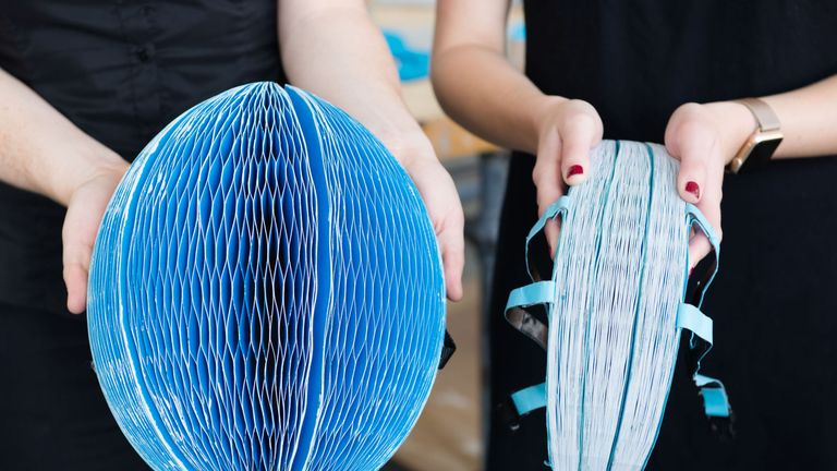 The ecoHelmet is made from recycled paper