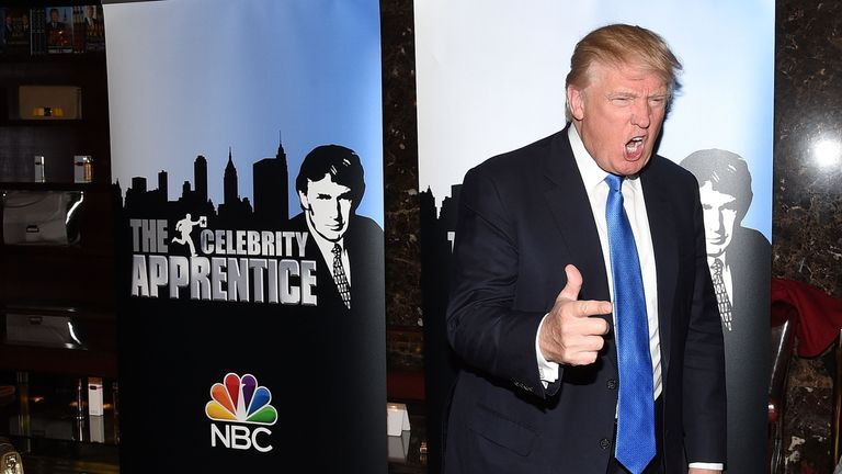 Mr Trump hosted the first 14 seasons of The Apprentice on US TV