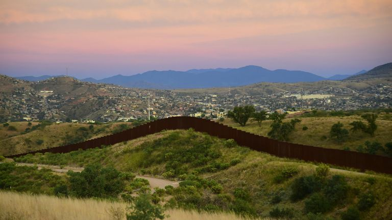 The wall between Mexico and the US