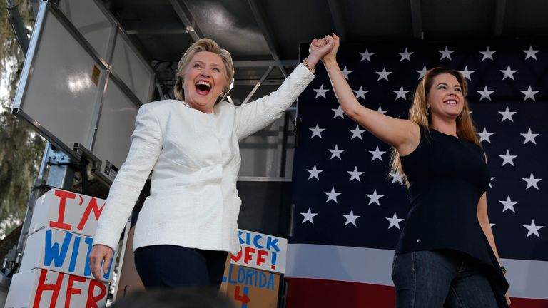 Hillary Clinton and Alicia Machado