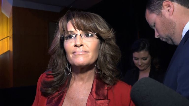 Sarah Palin is a strong Trump supporter