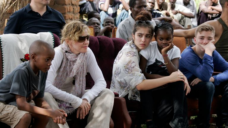 Madonna and her son Rocco in 2013 trip to Malawi
