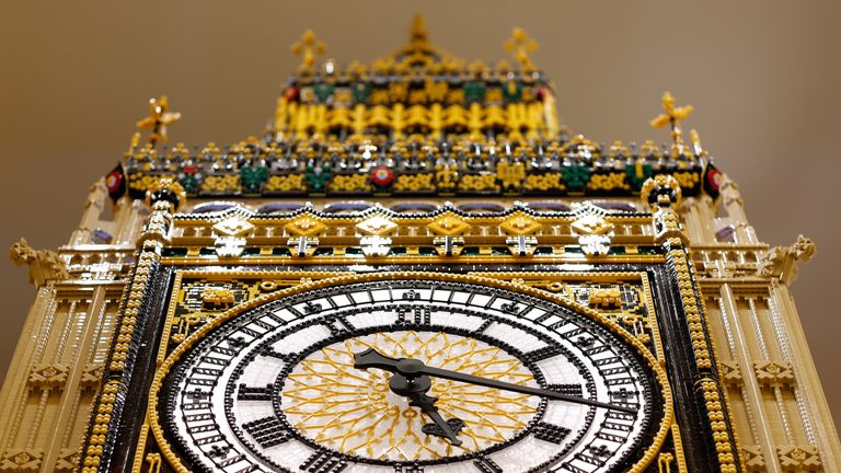 Lego's replica of the Big Ben tower