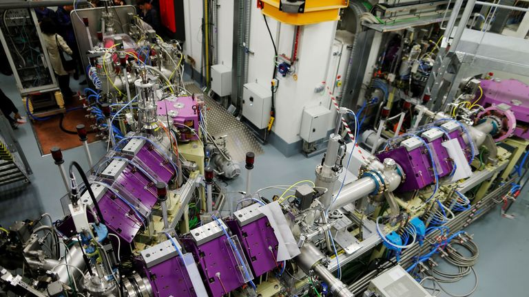Part of the SPIRAL2 particle accelerator that will examine nuclei which are usually found in stars
