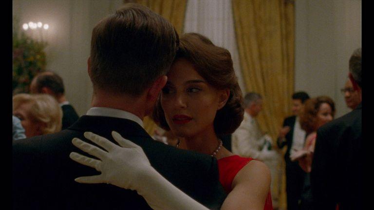 Portman portrays grief-stricken Jacqueline Kennedy after the assassination