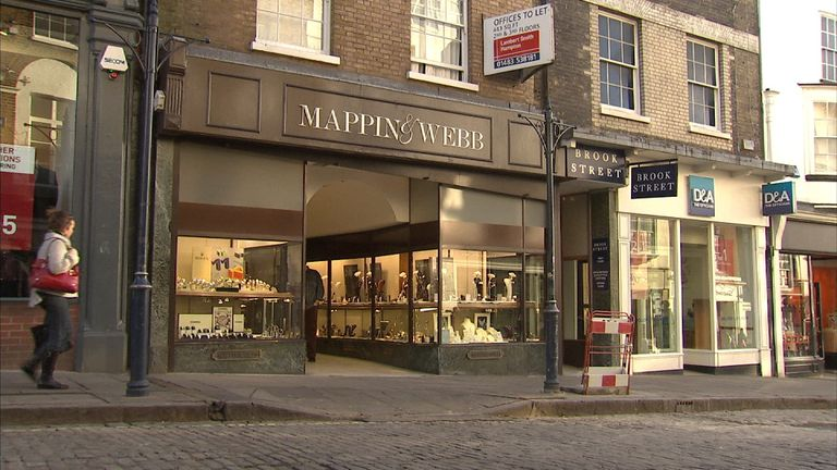 Jeweller Mappin & Webb