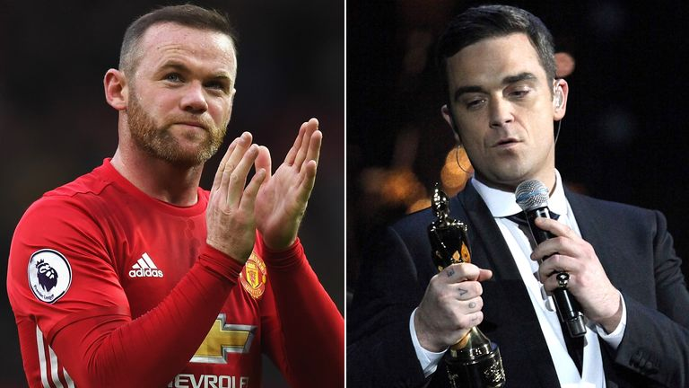 Wayne Rooney and Robbie Williams