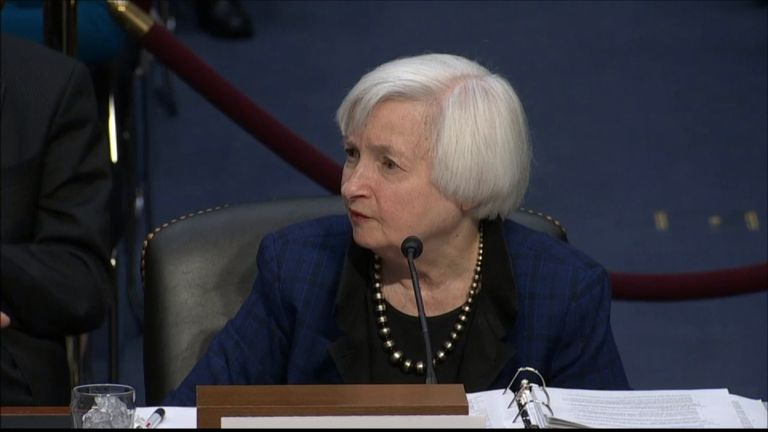 Janet Yellen delivers evidence to Congress
