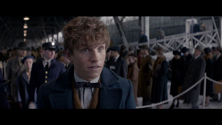 Eddie Redmayne stars as Newt Scamander in the new Fantastic Beasts film