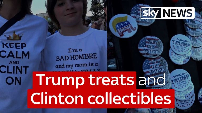 Trump treats and Clinton collectibles