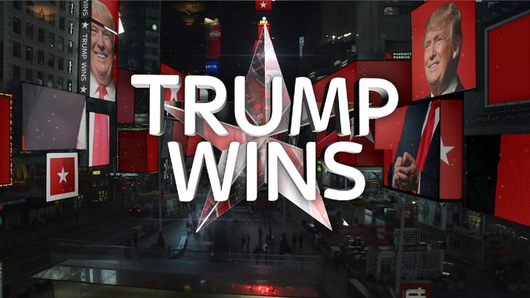 Donald Trump is elected US president