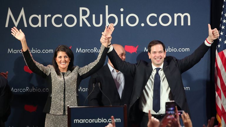 Nikki Haley supported Marco Rubio during the primaries