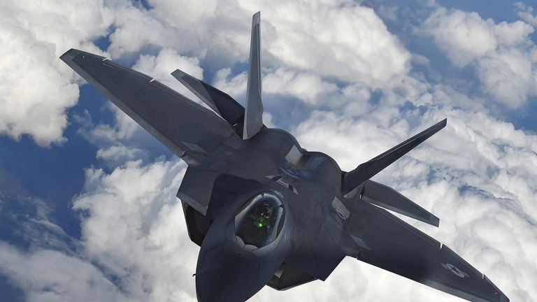 The F-22 Raptor is the US Air Force's equivalent