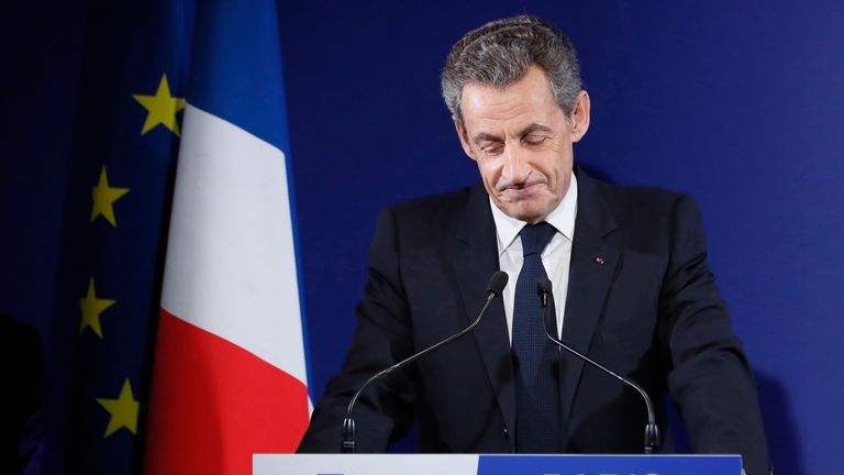 Former French president Nicolas Sarkozy found guilty of corruption and sentenced to prison