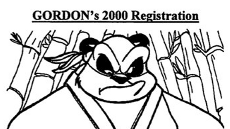 Gordon's sketch he registered in 2000 that he claimed he drew in 1992