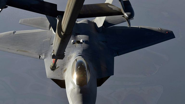UK, US, Australian, and Danish planes took part in the strike. File pic