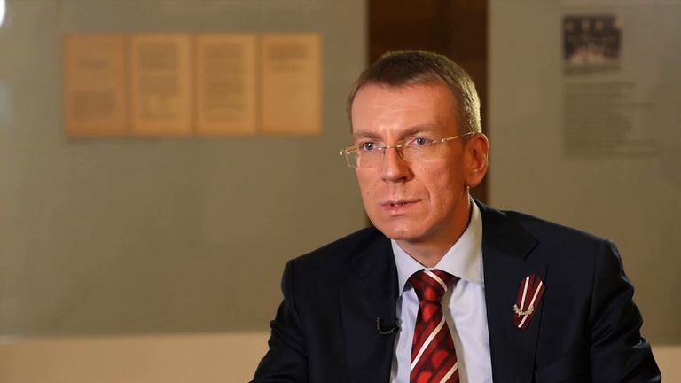 Foreign Minister Edgars Rinkevics says Latvia will increase its defence spending