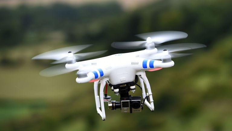 A drone in flight, as a website giving advice on how to operate drones safely has been created amid a spate of near-misses with aircraft