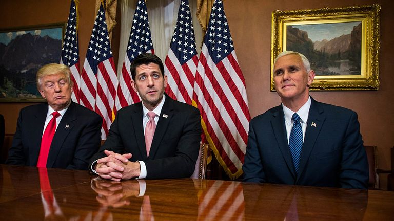 Paul Ryan (R) seems to have changed his mind about Mr Trump